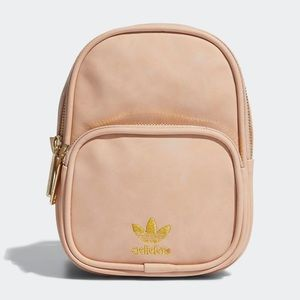 Adidas Light Pink Faux Suede Mini Backpack